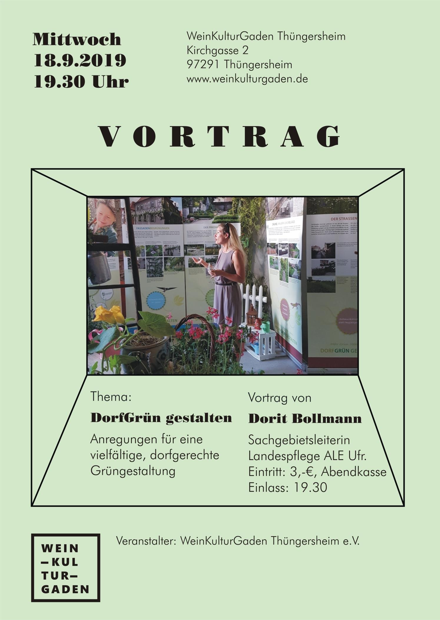 Vortrag - DorfGrün gestalten (Dorit Bollman)