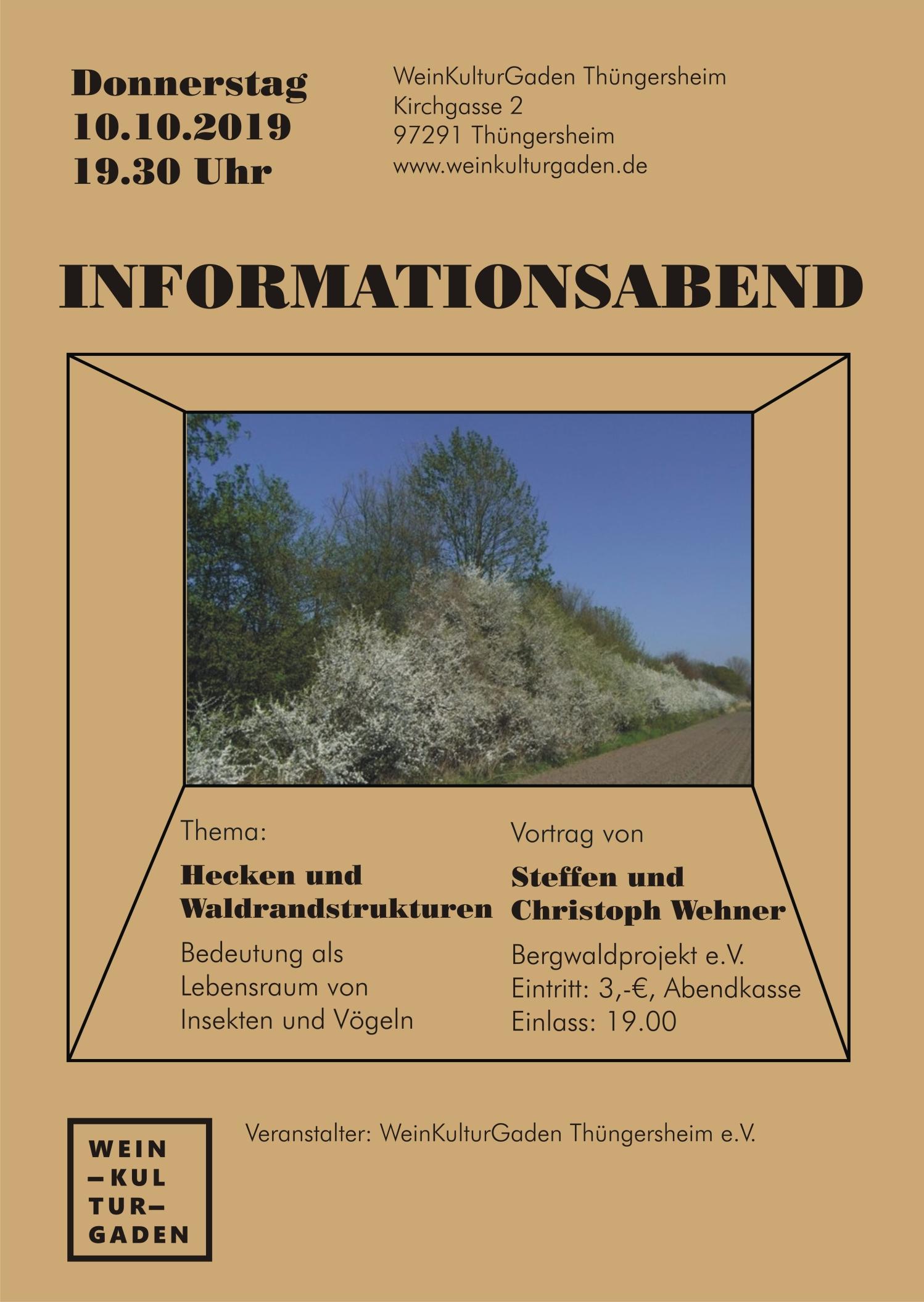 Informationsabend - Hecken und Waldrandstrukturen (Steffen und Christoph Wehner)