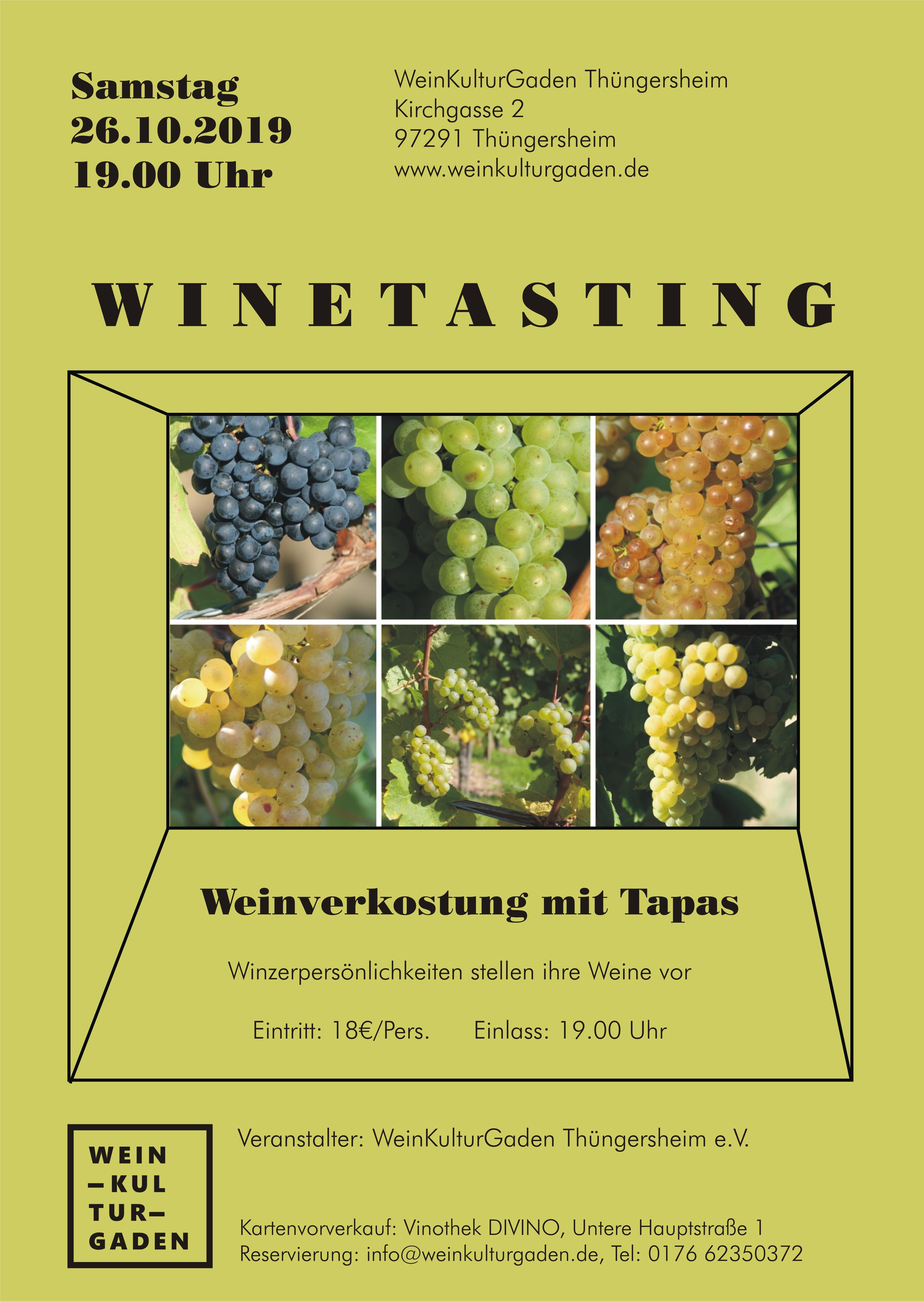 Winetasting - Weinverkostung mit fränkischen Tapas