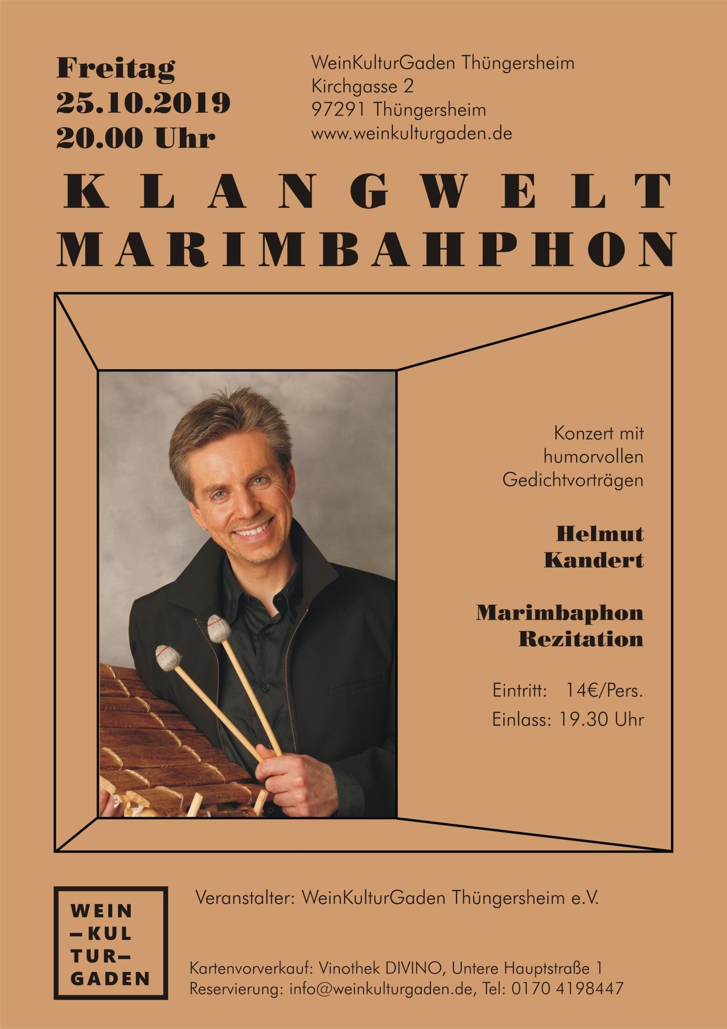 Konzert - Klangwelt Marimbaphon (Helmut Kandert)
